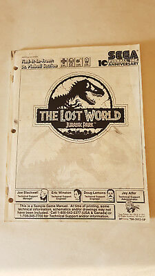 Bedienungsanleitung Sample Game Manual Flipper Sega The Lost World Jurassic Park