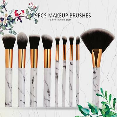 Kabuki Marble Pattern Make-Up Tool Set Foundation Powder Blush Eyeshadow Brushes