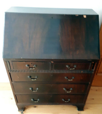 Mahogany Veneer Bureau - Up Cycling Project - Needs Attention