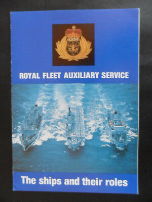 Royal Navy  Welcome Aboard 1980's ROYAL FLEET AUXILIARY SERVICE