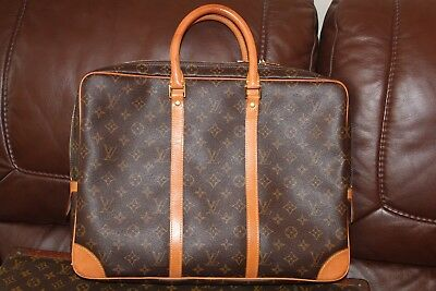 Authentic Preloved Louis Vuitton Porte Documents Voyage Monogram Canvas  Leather 35269a07f5b