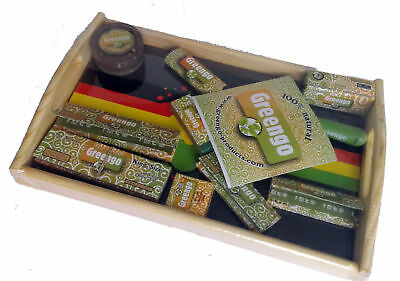 Greengo Rolling Tray Set - Rolling Papers - Filter Tips - Saverette - Gift Set