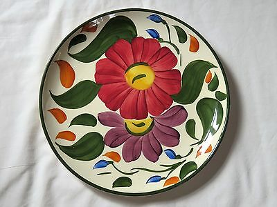 "Vintage Wade Hand Painted 9 1/2"" Plate Floral Design"