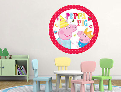 Peppa Pig 3D Effect Children's Room Wall Stickers Art Decals 532