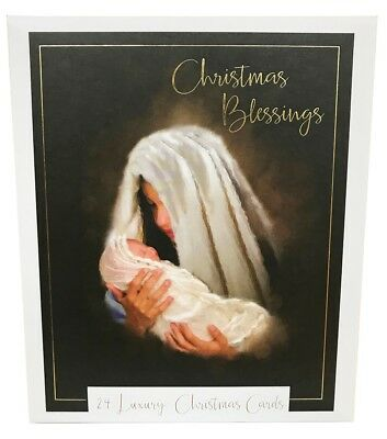 Christmas Cards Pack Religious Friend Family Quality Xmas Bulk Greeting Adult 24