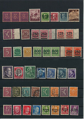 Germany, Deutsches Reich, Nazi, liquidation collection, stamps, Lot,used (TV 26)