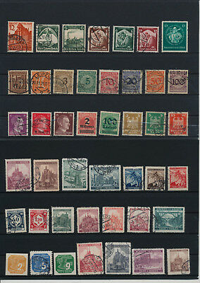 Germany, Deutsches Reich, Nazi, liquidation collection, stamps, Lot,used (DH 25)