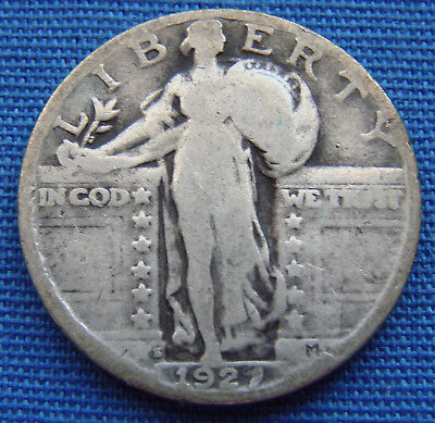 "*nice Looking 1927-S Standing Liberty Quarter ""key Date"" - Estate Fresh*"