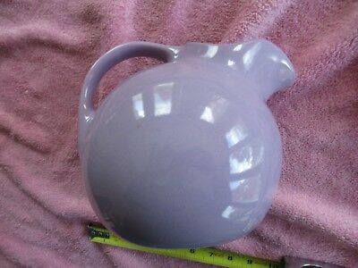 Vintage HALL Lavendar Pitcher w/ Ice Lip
