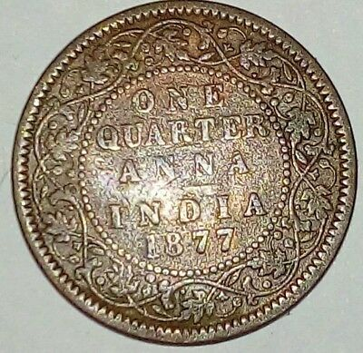 British India One Quarter Anna 1877 Victoria Empress