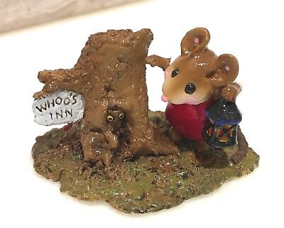 Wee Forest Folk WHOO'S INN Exclusive Limited Store Special Miniature Mouse 2005