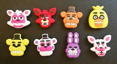 8 Five Nights At Freddy's Croc Shoe Charms Jibbitz Charm Crocs Freddys 5