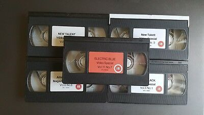 5 X  Vintage Adult Glamour Vhs Tapes