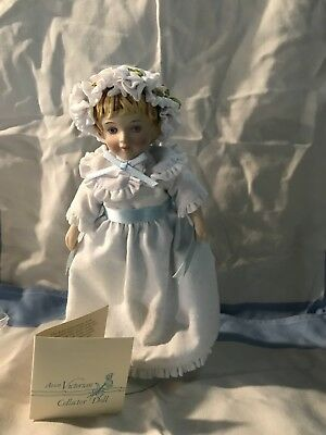 Victorian Collector Porcelain Doll 1983 AVON Vintage with Stand