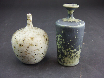 Two Rolf Palm Mölle Studio pottery Vases
