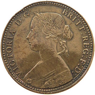 GREAT BRITAIN FARTHING 1860  #t38 275
