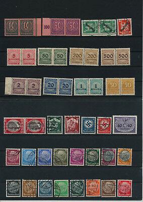 Germany, Deutsches Reich, Nazi, liquidation collection, stamps, Lot,used (KD 39)