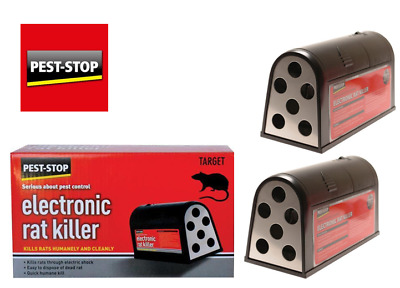 Pest-Stop Electronic Rat & Mice Killer with bait Options, For Pest Controllers.
