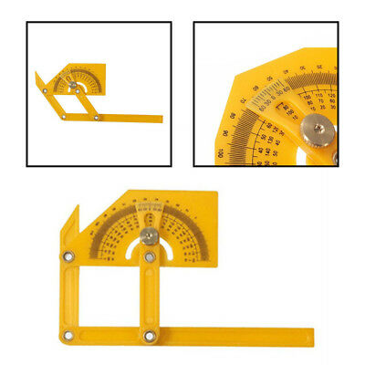 0-180 Degrees Angle Finder Plastic Protractor Goniometer Miter Gauge