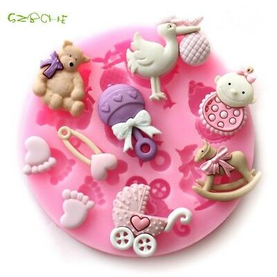 1 pc small Baby Party Silicone Cake Mold Frozen Cake Chocolate Soap Craft Mold
