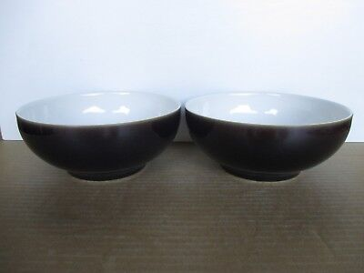Denby Pottery Amethyst 2 x Soup/Cereal Bowls New 1st Quality Excellent Condition