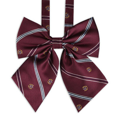 JK Bow Tie Striped Solid Uniform Collar Knot a Tying of Free Chic Preppy