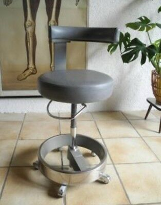 Vintage Siemens Dentist Chair Original - Black Leather - Very well preserved