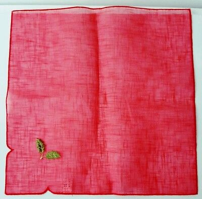 6 x Red Organza Square 40cm Christmas Holly Dining Fabric Placemats Premier
