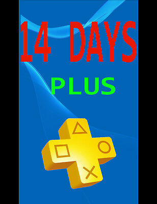 Plus 14 Days Playstation Ps4 -- Sent Fast (Uk/usa)