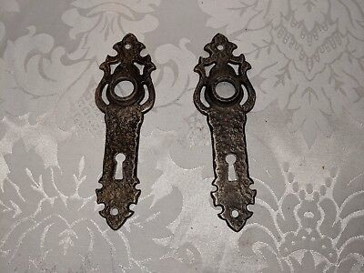 Vintage Art Deco Rustic Antique Skeleton Door Knob Back Plates