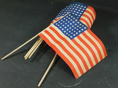 lot of 6 (six) US flags, printed 1944 in France for Liberation.