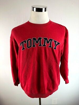 0e0d6c33 Vintage 90s Tommy Hilfiger Embroidered Spellout Sweatshirt Hip Hop Red  Adult XL