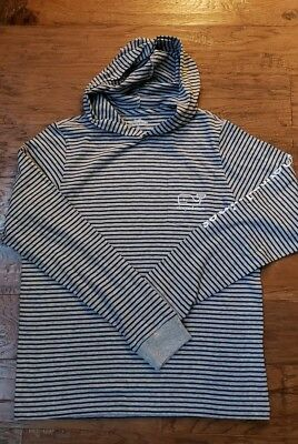 Vineyard Vines Youth XL NWOT Striped Hoodie Navy and Gray Never Worn