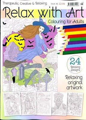 Relax With Art Issue #46 Art Therapy Colouring Book For Adults