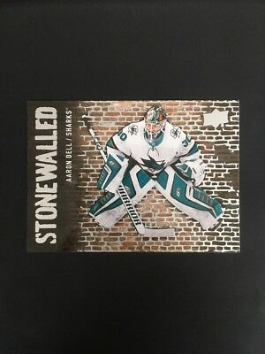 2018-19 Upper Deck Stonewalled Aaron Dell Sharks! SW-23