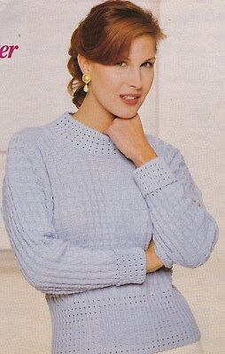 Lady's Garter Carriage Sweater Pattern For Machine Knitting