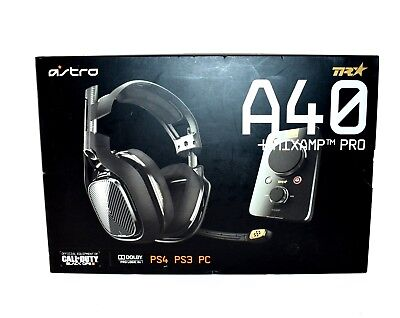 Astro Gaming A40 TR Wiresless Headset With MixAmp Pro For PS4 PS3 PC JL202 READ!