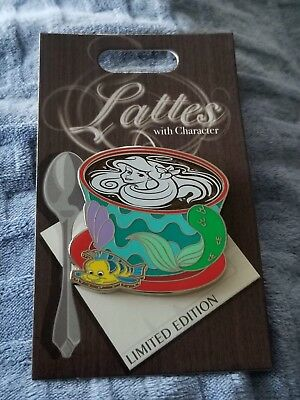 Disney Trading Pin Latte With Character Series Little Mermaid Ariel LE 3000