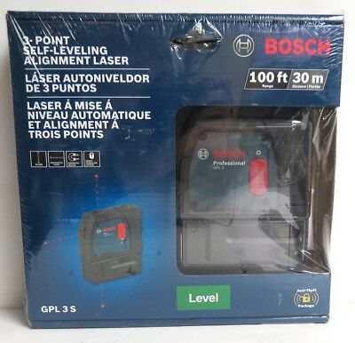 Bosch GPL 3 S 100 ft 3-point Self-Leveling Alignment Laser BRAND NEW