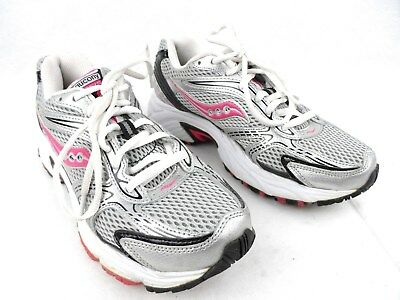 bb83424c6940 Womens Saucony Oasis Running Training Shoes Size 6.5 15096-1 White Silver  EUC