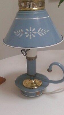 Blue Tole Lamp