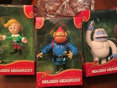 NIB Lot of 3 Forever Fun  Rudolph the Red Nosed Reindeer Ornaments