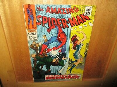 AMAZING SPIDER-MAN #59 From 1968   ( Key Issue First Mary Jane )