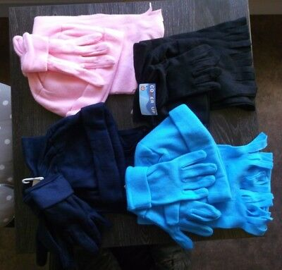 24 fleece hats scarves gloves assorted colours. Wholesale Joblot Clearance NEW