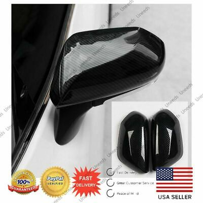 A Pair TOYOTA Camry 2018 2019 Carbon Fiber Side Door Rearview Mirror Cover Trim