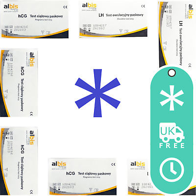 Ovulation Tests LH Fertility Home Urine Ultra Sensitive Rapid Strips 25 mIU/ml