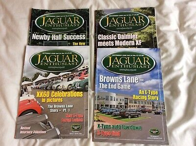 Jaguar Enthusiast magazines Sept-December 2008