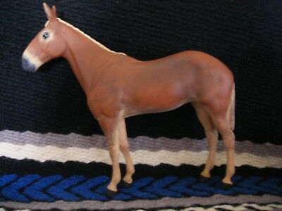 Breyer Mule Custom Sorrel OOAK Molly Long Ears Red Model Figure