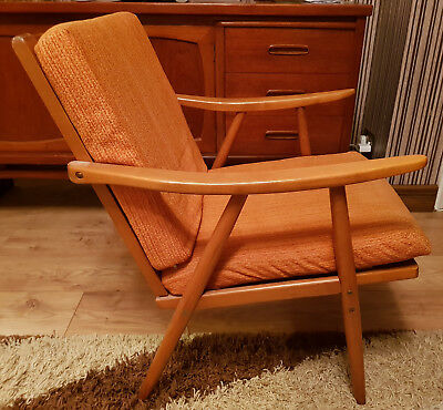 Retro Vintage Danish Design Teak Cocktail Easy Chair Lounge Armchair 50s 60s 70s