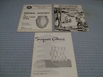 Indian History of New York State - Iroquois Culture - 3 Booklets